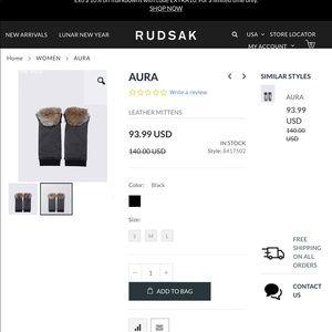 RUDSAK Accessories - Rudsak Aura mittens